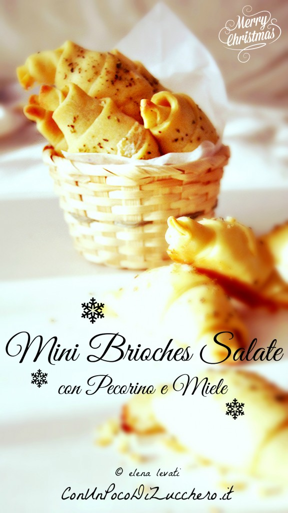 Mini brioches salate pecorino e miele 1 br