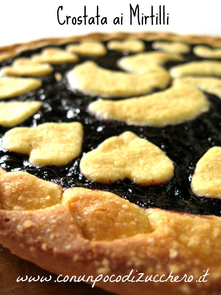crostata con confettura di mirtilli