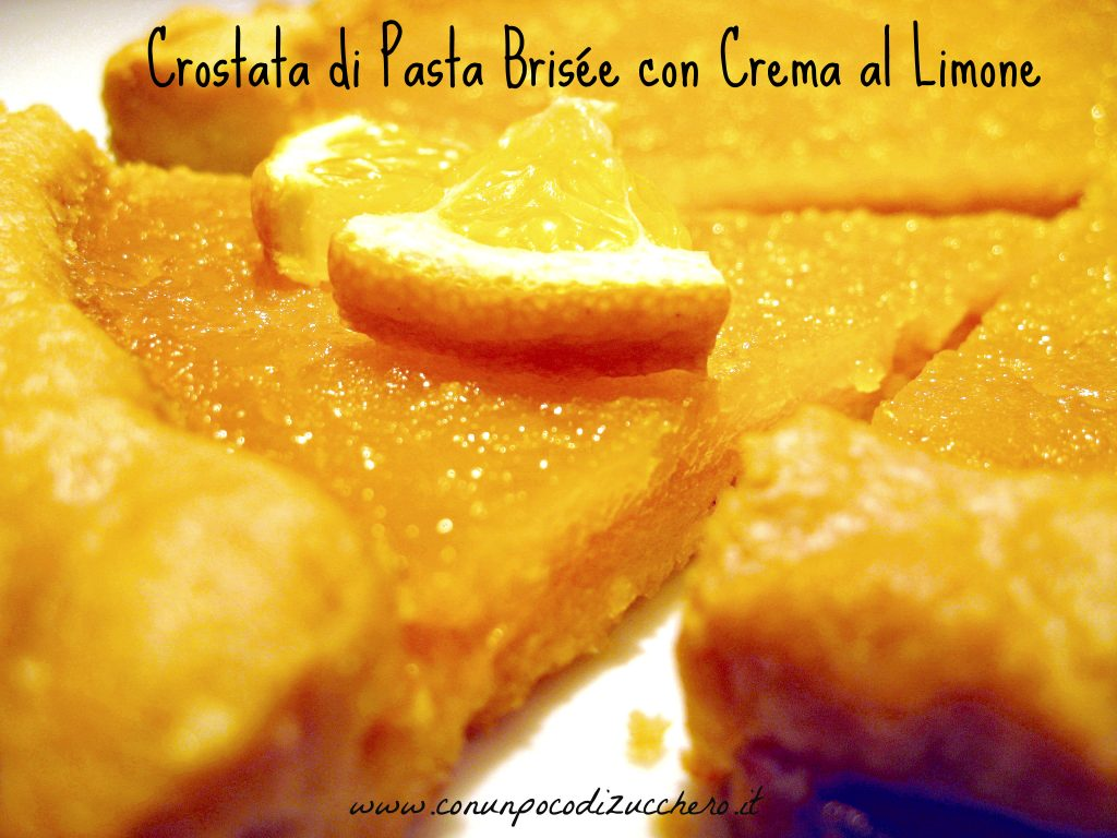 crostata di pasta brisèe al limone