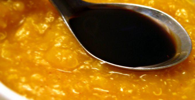 Vellutata di zucca, quinoa e sedano rapa con aceto balsamico