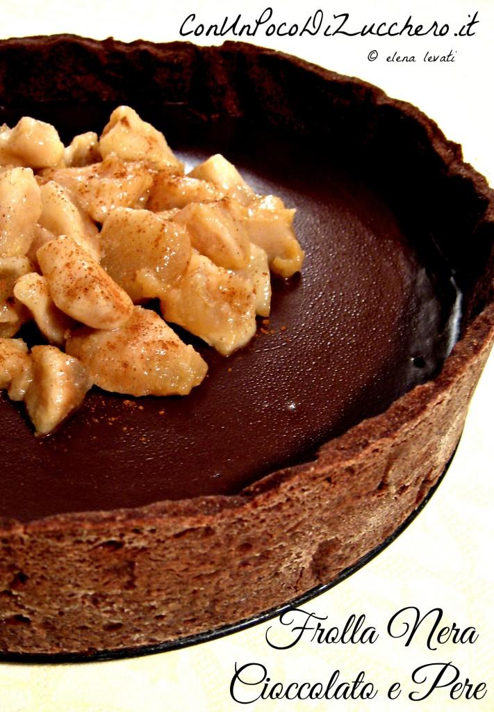 Frolla nera pere e cioccolato