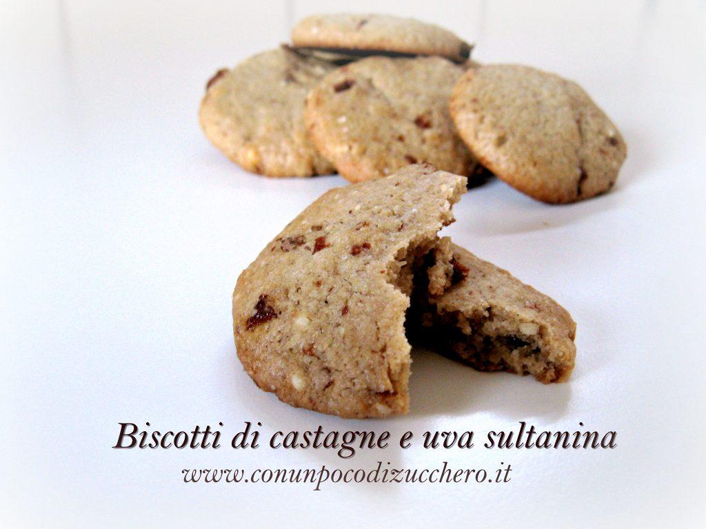 Biscotti di castegne e uva sultanina