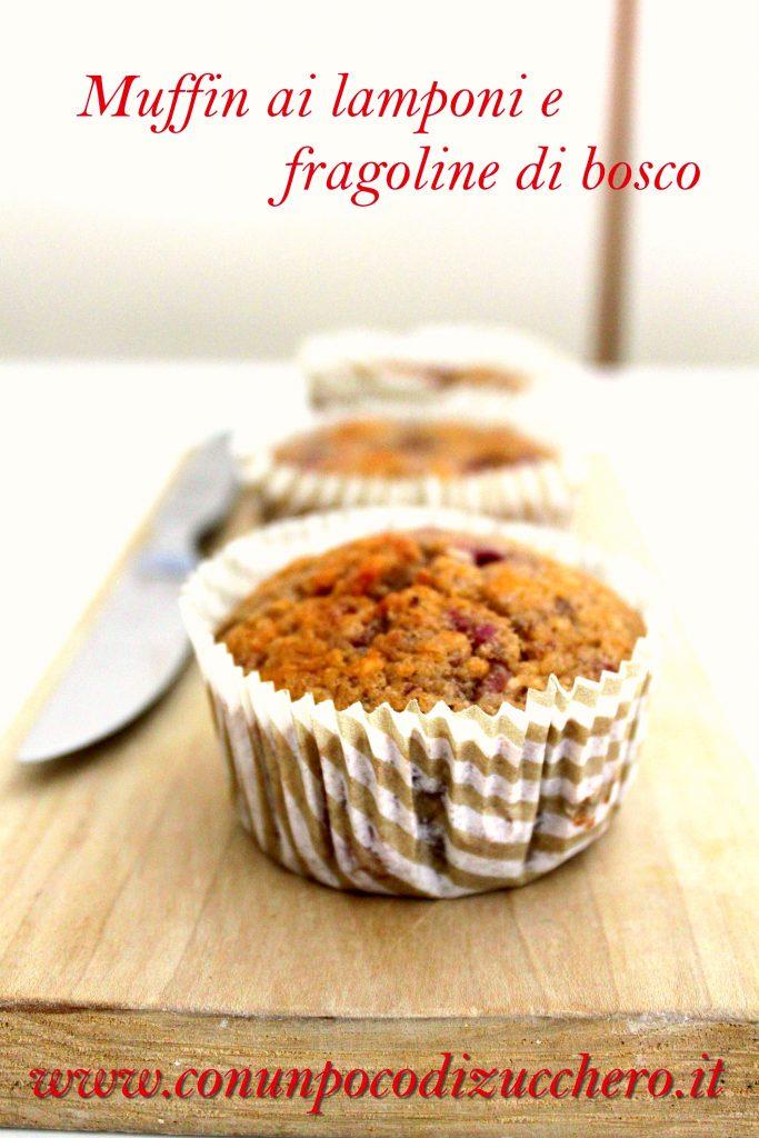 Muffin lamponi e fragoline di bosco