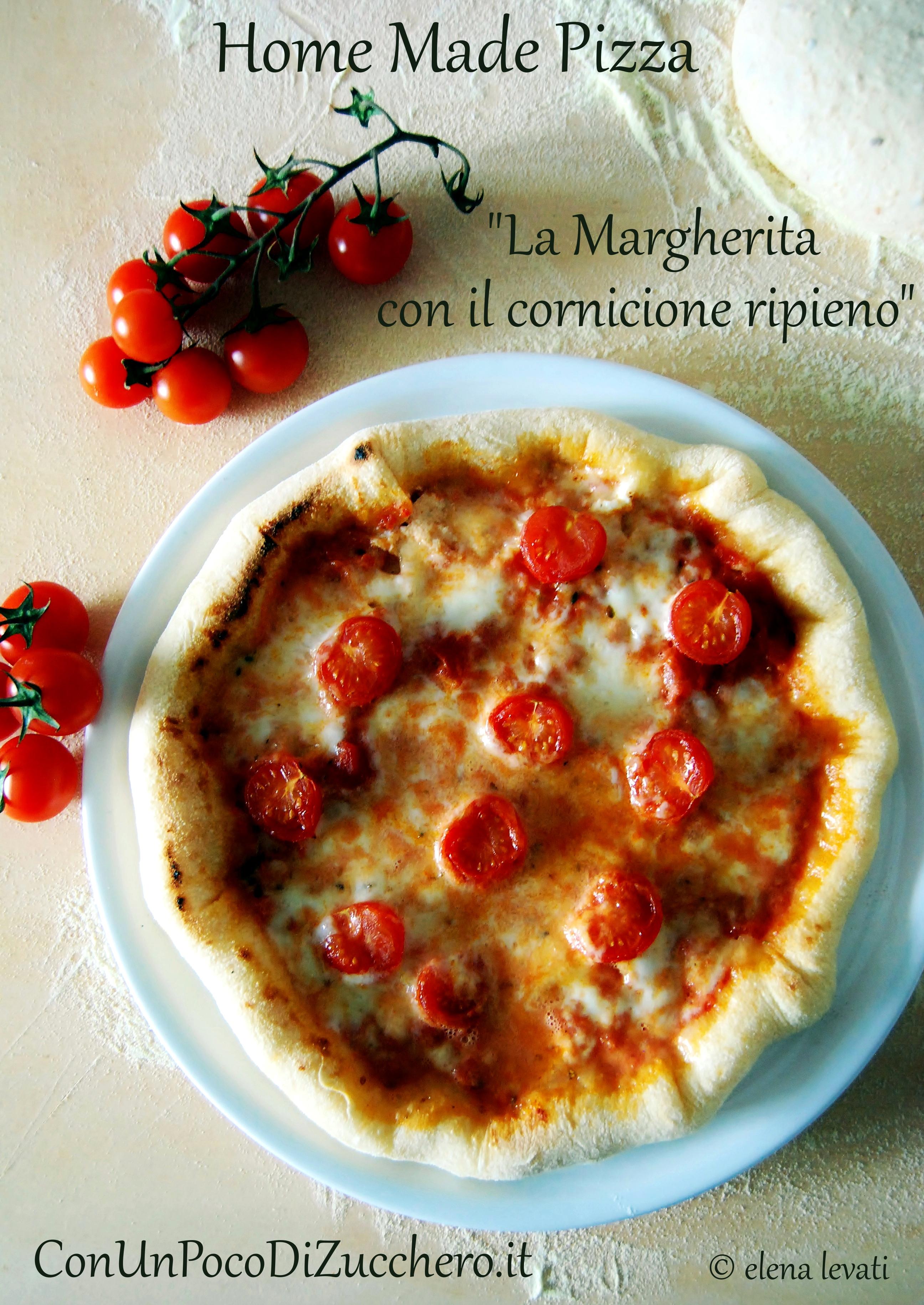 Pizza margherita con il cornicione ripieno - Cornicione casa ...