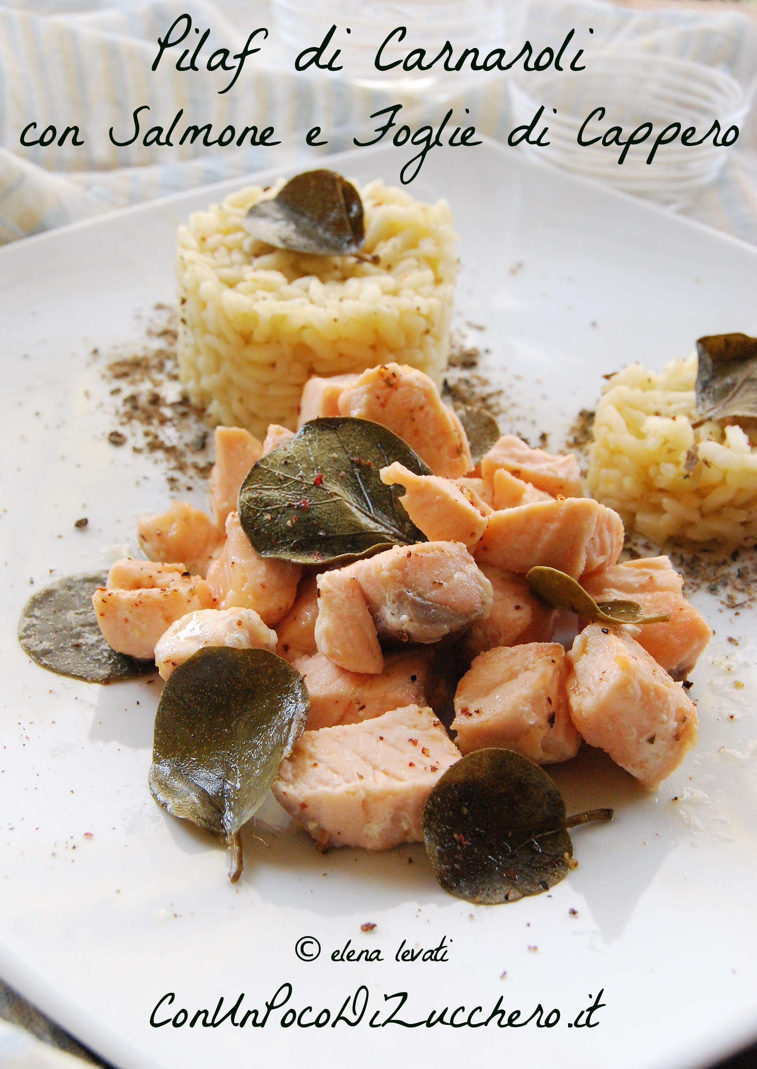 Riso pilaf e salmone