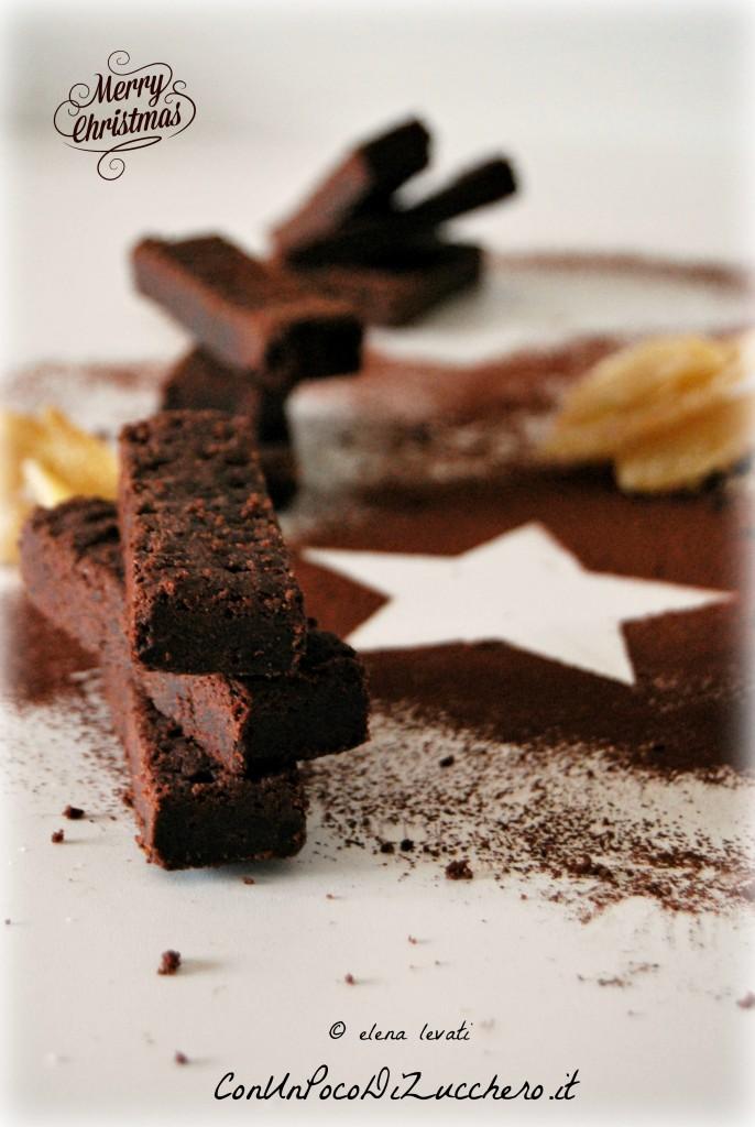 Shortbread al cacao, mandorle e zenzero