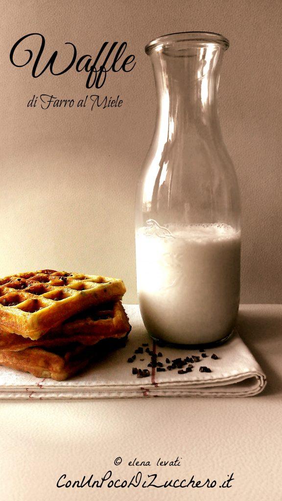 Waffle di farro al miele