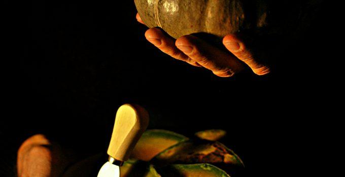 zucca al forno con formaggio di capra fave di cacao e miele