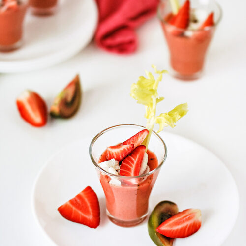 Gazpacho Ricetta En Espanol.Strawberry Gazpacho Con Un Poco Di Zucchero